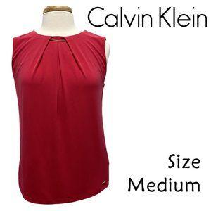 Calvin Klein Hot Pink Sleeveless Blouse Size M NWT